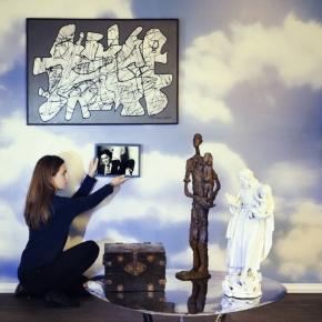 Robert Couturier (1905-2008), L'Artiste tenant sa sculpture, une Épreuve en bronze, le lot 76de Jean Dubuffet (1901-1985), Parachiffre XXXIII de 1976