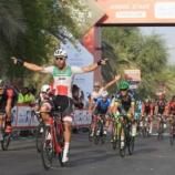 Giacomo Nizzolo, la volata nella prima tappa dell'Abu Dhabi Tour