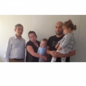 Asylant Burit T. mit seiner Familie