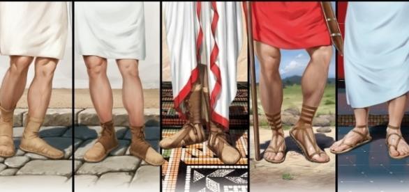 Variaciones del calzado romano - Ilustraciones de Santi Pérez