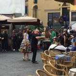 Il set in piazzetta della nuova campagna di Dolce e Gabbana