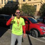 Leonardo Cenci alla Mezza Maratona di Terni dello scorso 21 febbraio
