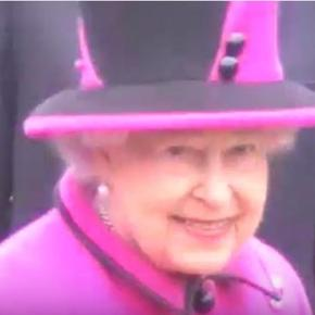 Elizabeth Windsor on Halloween's Day 2013, Moulsecoomb, Brighton