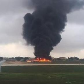 The Metro: Five people have died after a plane crashed shortly after take-off at Malta International Airport.