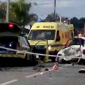Vítima mortal ficou encarcerado no interior do automóvel que conduzia