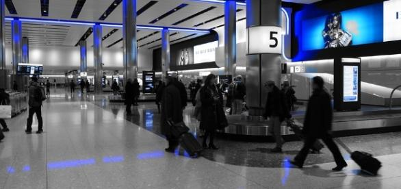 Baggage Hall at Heathrow Terminal 2 - a modern, futuristic appeal.