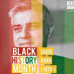 London Mayor Sadiq Khan was featured in Kent University's Black History Month