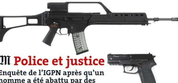 Le type de fusil d'assaut et de Sig Sauer employés à (...) escient à Échirolles, et ayant tué un homme