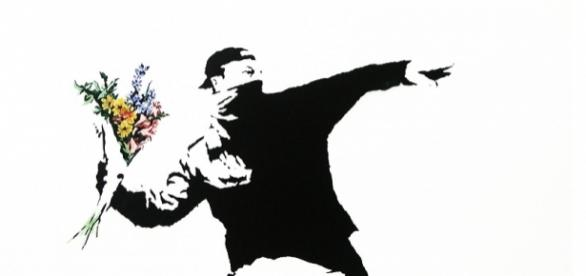 The Flower Thrower - Banksy - flickr.com