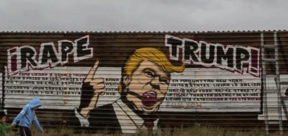 À Tijuana (Baja California), l'effigie de Trump est omniprésente, mais certes pas pour le glorifier