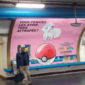Goupix d'Alola dans le métro parisien. (Photo par @Kocobe)
