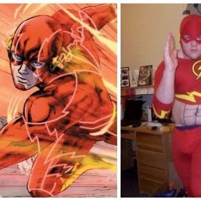 Rapaz tentou se fantasiar de The Flash