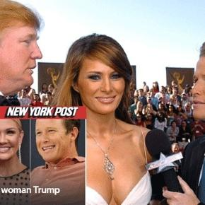 Mrs Meliana Trump, Mr Donald Trump, le jeune Billy Bush, et Nancy O'Dell