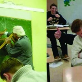 Professores fazendo coisas fora do comum