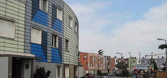 Le quartier de la Grande-Borne à Grigny (Essonne)