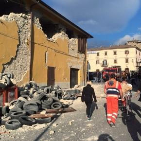 Many road and buildings have been badly damaged as a result of the fierce quake sourced viu Blasting News Library