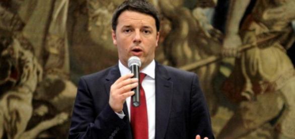 Matteo Renzi a Palermo poco tempo fa