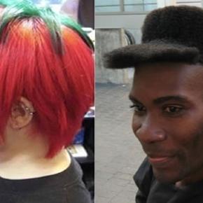Cortes de cabelos estranhos que algumas pessoas fizeram