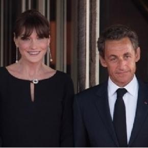 Nicolas Sarkozy and his wife (Public domain photo - wikimedia.org)