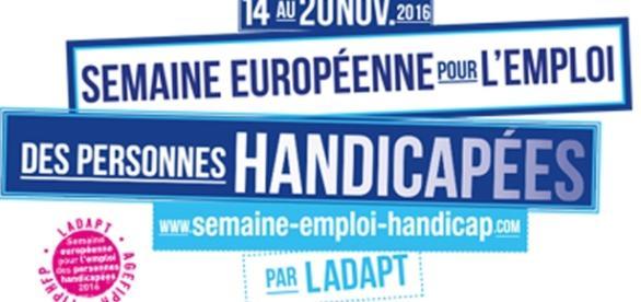 La semaine pour l'emploi des personnes handicapées se déroule du 14 au 20 novembre 2016.