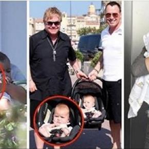 Quase todos os filhos de celebridades têm uma girafa de brinquedo.