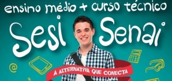 Ensino médio e ensino técnico no SESI / SENAI