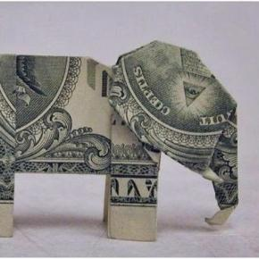 Origami elephant - elephant poaching awareness / Photo via creative commons, Wikimedia