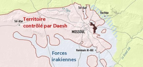 L'état des combats à Mossoul au soir du 18 novembre 2016