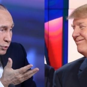 Vladimir Poutine, président Russe. Donald Trump, président américain élu