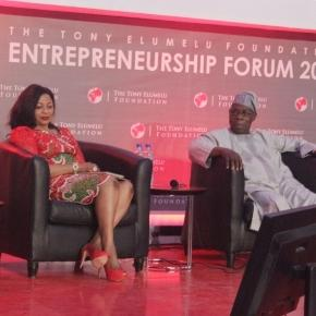Former President Obasanjo and Africa's richest woman address entrepreneurs in Lagos, Nigeria(c) Mbom Sixtus October 2016