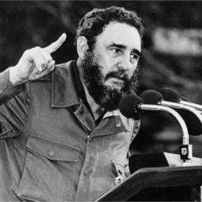 Fidel Castro giving a speech to his many followers. http://www.shauntmax30.com/group/fidel-castro/