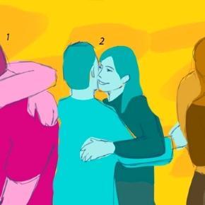 Um abraço pode demonstrar confiança ou insegurança.