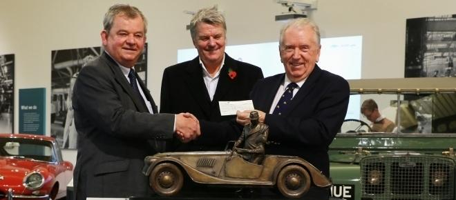 Morgan Car Company donate statuette and cash to the British Motor Industry Heritage Trust