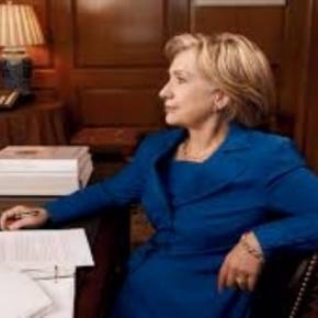Annie Leibowvitz' portrait of Hillary Clinton Vouge.com Creative Commons