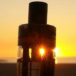 @ Daniel Schmahl: Dampfe im Sonnenuntergang
