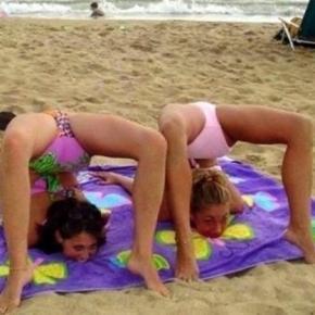 Quando o assunto é diversão na praia, essas pessoas são especialistas.
