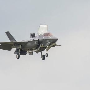 F-35 in flight http://www.popularmechanics.com/military/weapons/a23757/f-35-fighter-catches-fire/