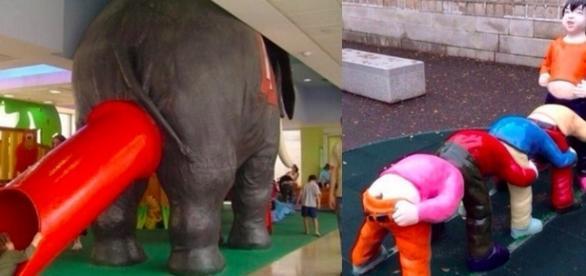 Alguns brinquedos parecem ter tido outra intenção quando foram feitos