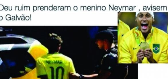 Neymar pode ser preso e vira piada na internet