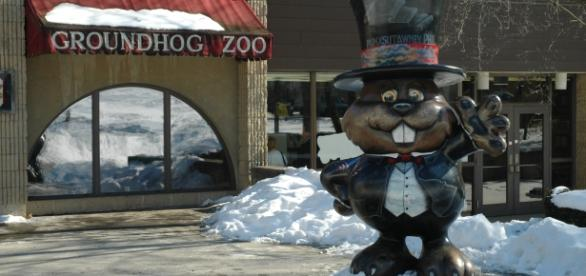 Punxsutawney Phil's Home (town library) photo by the author, John McCormick