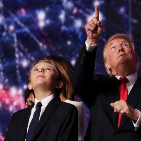 Barron Trump is thrust into chaos since dad became president elect. Photo: Blasting News Library - thesun.co.uk