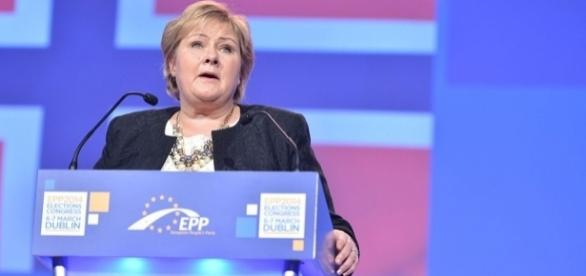 Norway's PM, Erna Solberg, has said that Islamic religion is no excuse to refuse a job - Wikimedia Commons