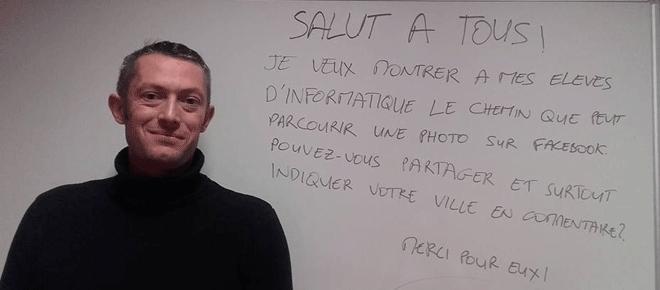 Pari réussi sur Facebook pour Cédric Barde, prof d'informatique