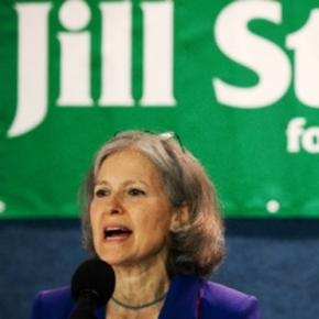 Jill Stein in calling a recount in states that don't use electronic machines Image from www.whistlingthewind.org