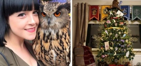 Kathryn conseguiu unir o Natal a Magia de Harry Potter, e o resultado foi surpreendente