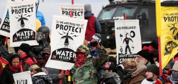 Opponents to the Dakota Access Pipeline openly and angrily protest DAPL construction. (via - Reuters)