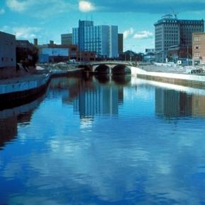 Heavily polluted Flint River water in Flint, Mich. Wikimedia.