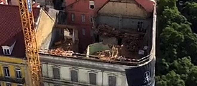 Dois homens morrem soterrados após derrocada de prédio