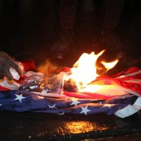 Donald Donald Trump calls for people who burn the American flag to ... - thesun.co.uk