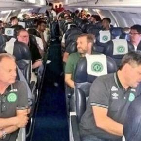 Last picture of Brazilian team #Chapecoense before the crash / Photo screencap from @S118869 via Twitter